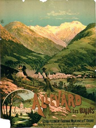 "Advertisement for ""Allevard Les Bains,"" Isere"