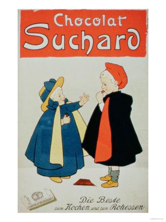 "Poster Advertising ""Suchard Chocolate"""