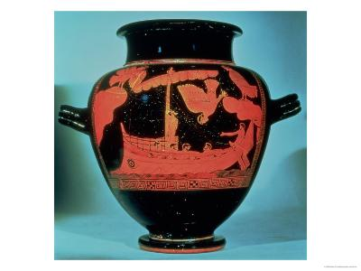 Odysseus and the Sirens, Athenian Red Figure Stamnos Vase by the Siren Painter