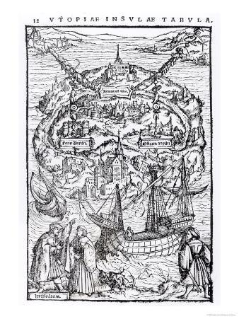 Map of the Island of Utopia, Book Frontispiece