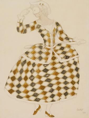 Costume Design for Columbine, from Sleeping Beauty, 1921