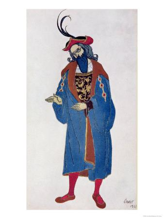 Costume Design for Blue-Beard, from Sleeping Beauty, 1921