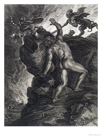 Sisyphus Pushing His Stone up a Mountain, 1731
