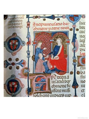 """Pere Albert Offering His Book to the Prince, from the """"Customs and Recollections of Pere Albert"""""""