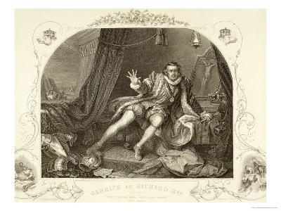 David Garrick as Richard III, Act V Scene 3, in the Play by William Shakespeare