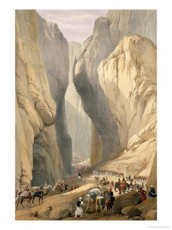 """Entrance to the Bolan Pass from Dadur, from """"Sketches in Afghaunistan"""""""