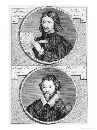 Thomas Tallis and William Byrd by G. Vander Gucht, 18th Century