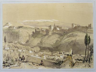 """The Alhambra from the Albay, from """"Sketches and Drawings of the Alhambra"""""""