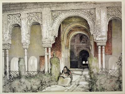 """Entrance to the Hall of the Two Sisters, from """"Sketches and Drawings of the Alhambra,"""" 1835"""