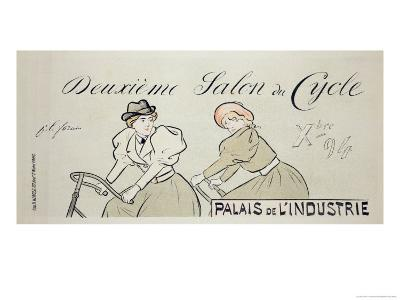 "Reproduction of a Poster Advertising the ""Salon Du Cycle,"" at the Palais De L'Industrie, 1894"