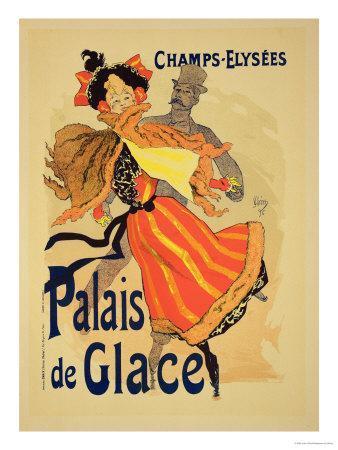 "Reproduction of a Poster Advertising the ""Palais De Glace,"" Champs Elysees, Paris, 1896"