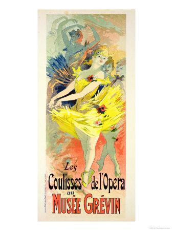 """Reproduction of a Poster Advertising """"Back-Stage at the Opera,"""" Musee Grevin, 1891"""