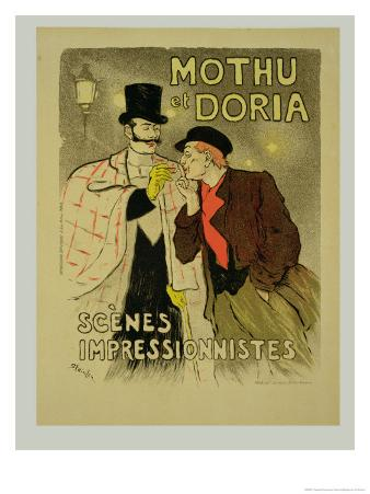 Reproduction of a Poster Advertising Mothu and Doria'In Impressionist Scenes, 1893