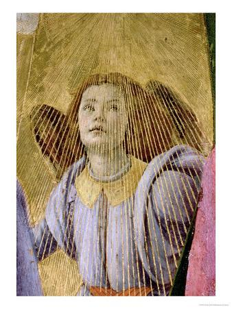 """Angel, from the """"Coronation of the Virgin,"""" circa 1488-90 (Detail)"""