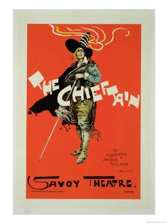 "Reproduction of a Poster Advertising ""The Chieftain,"" Savoy Theatre, 1895"