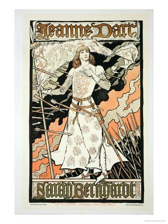 "Reproduction of a Poster Advertising ""Joan of Arc"""