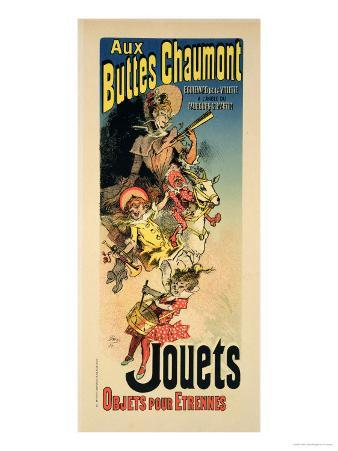 "Reproduction of a Poster Advertising ""New Year Gifts at the Buttes Chaumont"""
