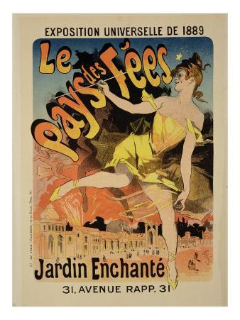 "Reproduction of a Poster Advertising ""Fairyland, the Enchanted Garden"""