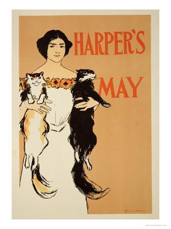 """Reproduction of a Poster Advertising the May Issue of """"Harper's Magazine,"""" 1897"""