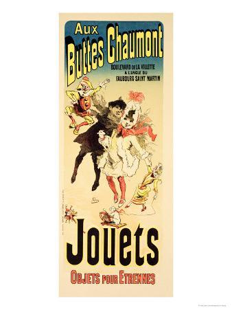 """Reproduction of a Poster Advertising the Toyshop """"Aux Buttes Chaumont"""""""