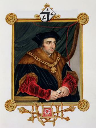 """Portrait of Sir Thomas More (1478-1535) from """"Memoirs of the Court of Queen Elizabeth"""""""