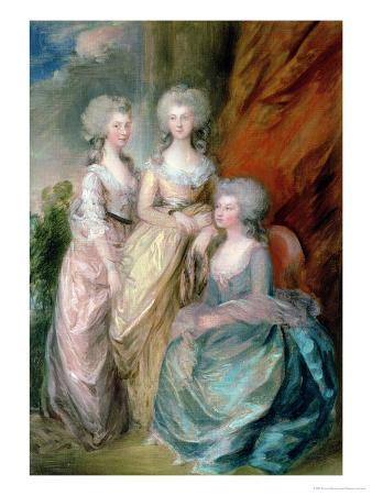 The Three Eldest Daughters of George III: Princesses Charlotte, Augusta and Elizabeth in 1784