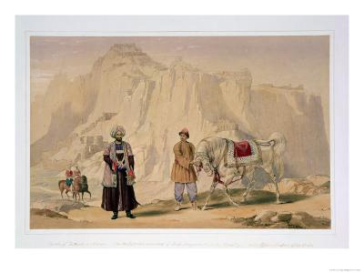 The British Commandant of Shah Shoojan's 2nd Jannah Cavalry and Affhan Troopers of the Corps