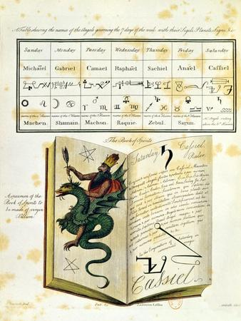 "Illustrated Page from a Book of Magic ""The Magus"" by Francis Barrett, 1801"