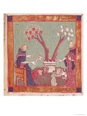 The Philosophers Will, from a Manuscript of Alchemy, 14th Century