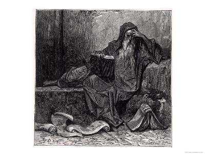 """The Enchanter Merlin, from """"Orlando Furioso"""" by Ludovico Ariosto, Published by Hachette in 1888"""