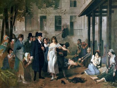 Philippe Pinel Releasing Lunatics from Their Chains at the Salpetriere Asylum in Paris in 1795