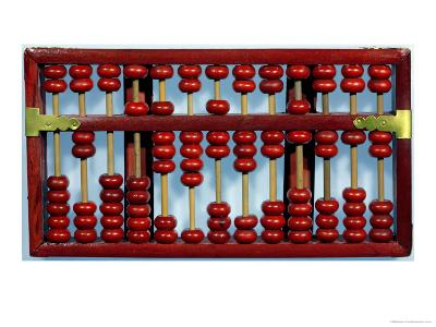 Abacus with the Numbers 0205847326212