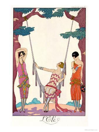 """Summer, from """"Gazette Du Bon Ton,"""" 1925"""