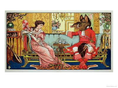 """Illustration from """"Beauty and the Beast,"""" circa 1900"""