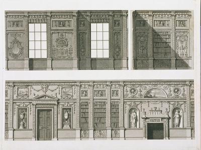 Elevation of the Library at Syon House, circa 1760-69