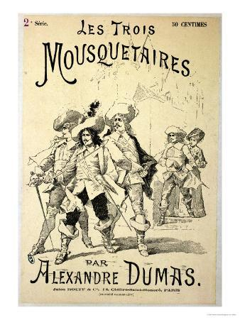 """Front Cover of a Serialisation of """"The Three Musketeers"""" by Alexandre Dumas Pere Late 19th Century"""