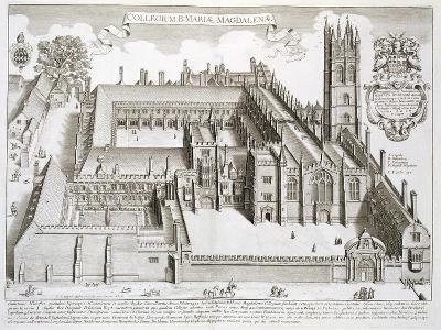"""Magdalen College, Oxford, from """"Oxonia Illustrata,"""" Published 1675"""
