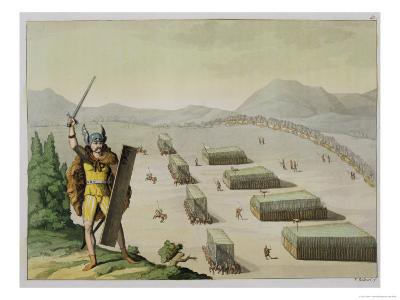Ancient Celts or Gauls in Battle, circa 1800-18