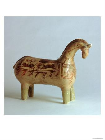 Painted Horse Rhyton, from Susa, Iran