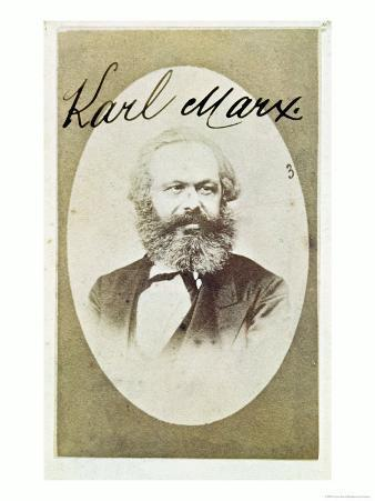 Photographic Visiting Card of Karl Marx with His Signature