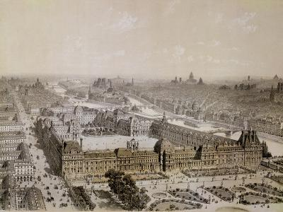 The Finished Louvre and the New Rue De Rivoli