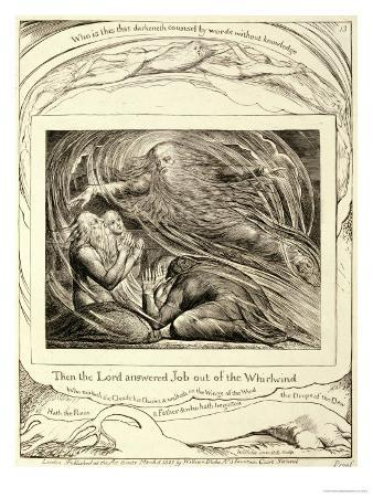 Then the Lord Answered Job out of the Whirlwind, Published 1825