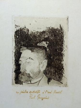 Au Poete Synthetiste, Portrait of Stephame Mallarme