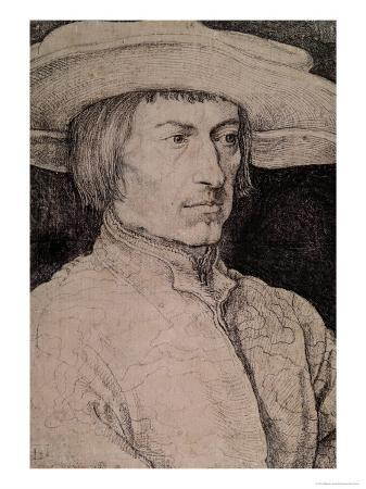 Portrait of a Young Man with a Wide-Brimmed Hat, 1525
