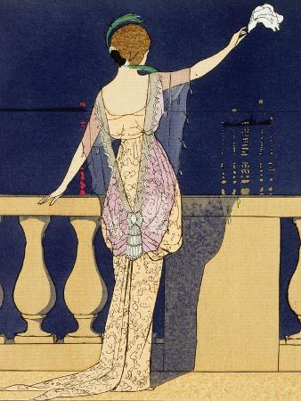 Farewell at Night, Design for an Evening Dress by Paquin