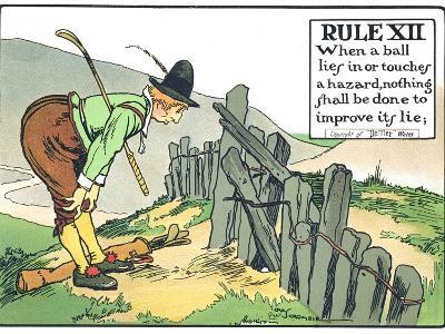 Rule XII: When a Balls Lies in or Touches a Hazard, Nothing Shall be Done to Improve Its Lie