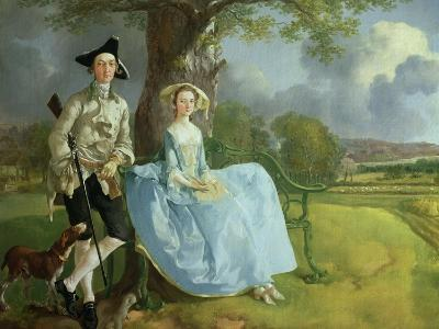 Mr. and Mrs. Andrews, circa 1748-9 (Detail)