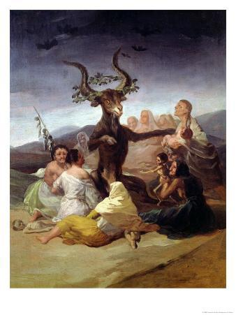 The Witches' Sabbath, 1797-98 (Detail)
