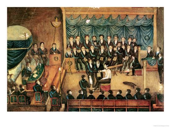 Masonic Initiation Ceremony Of A Male Freemason Early 19th Century
