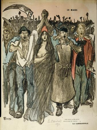 """La Carmagnole,"""" Patriotic Song of the French Revolution, from """"Le Chambard Socialiste,"""" 1894"""